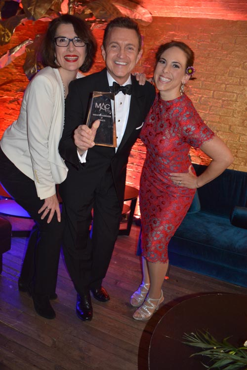 Meg Flather , Jeff Harnar and Dawn Derow.  Photo by:  Rose Billings/Blacktiemagazine.com