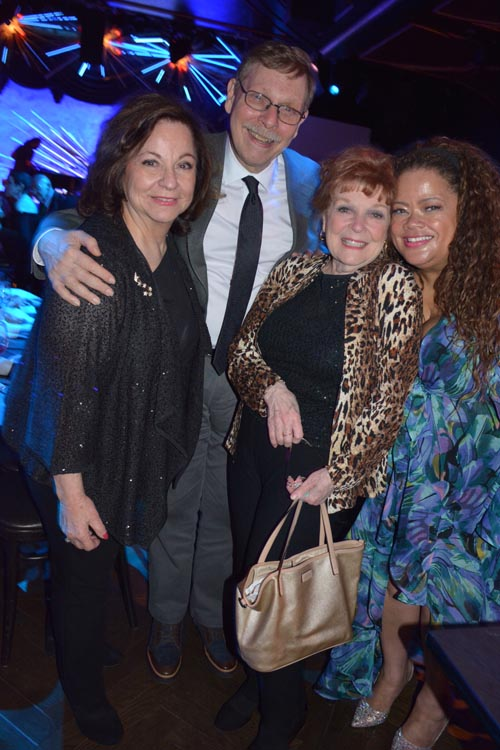 Linda Amiel Burns, Barry Kleinbort, Anita Guilette and Natalie Douglas.  Photo by:  Rose Billings/Blacktiemagazine.com