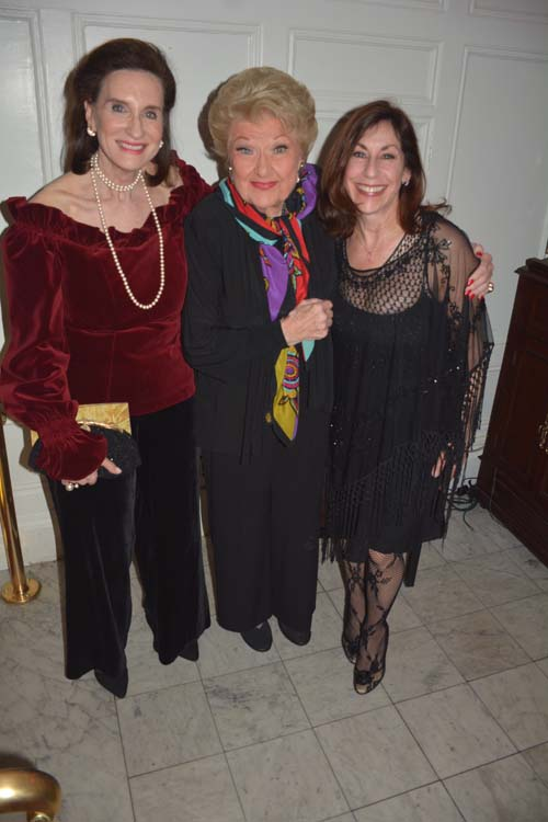 Norma Davidoff, Marilyn Maye and Vicki Sander, co-producer. Photo by:  Rose Billlings/Blacktiemaagzine.com