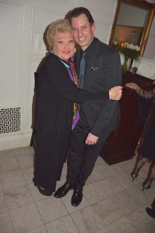 Marilyn Maye nad her drummer Daniel Glass on his birthday.  Photo by:  Rose Billings/Blacktiemaagzine.com