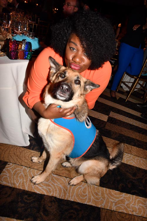 Adrienne Moore (Orange is the New Black) and Fonzie.  Photo by: Rose Billings/Blacktiemagazine.com