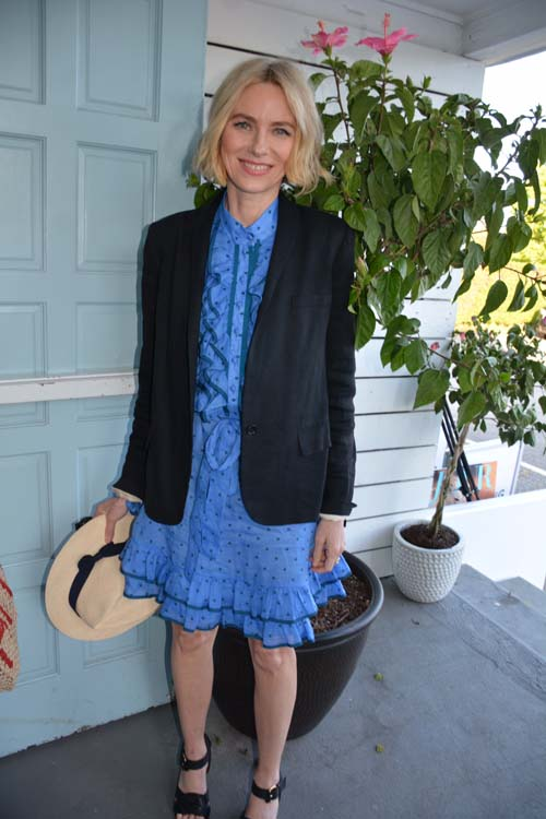 Naomi Watts at Du Jour Party, Memorial Weekend in Southampton and returning to NY.  Photo by:  Rose Billings/Blacktiemagazine.com