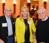 Trustee Robert Wright and his wife Susan Wright with Dr. Herbert Pardes