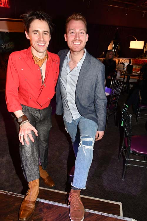 Reeve Carney and Daniel Dunlow...The BEST!.  Photo by:  Rose Billings/Blacktiemagazine.com
