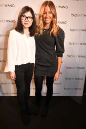 Designer, Taoray Wang with Kelly Bensimon.  Photo by:  Rose Billings/Blacktiemagazine.com