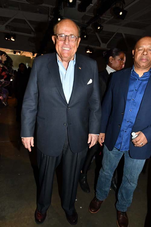 Rudy Giuliani, 107th Mayor of New York arriviing to celebrate the BEST Collection Ever. Photo by:  Rose Billings/Blacktiemagazine.com