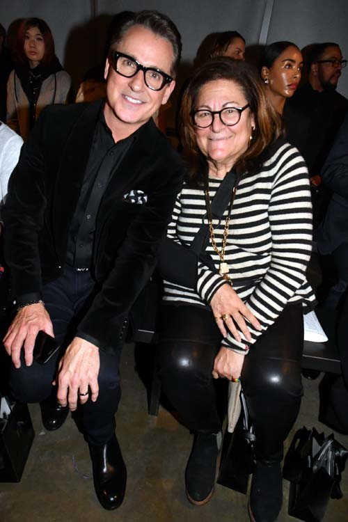 William R. Kapfer and FashionWeek Fern Mallis. Photo by:  Rose Billings/Blacktiemagazine.com