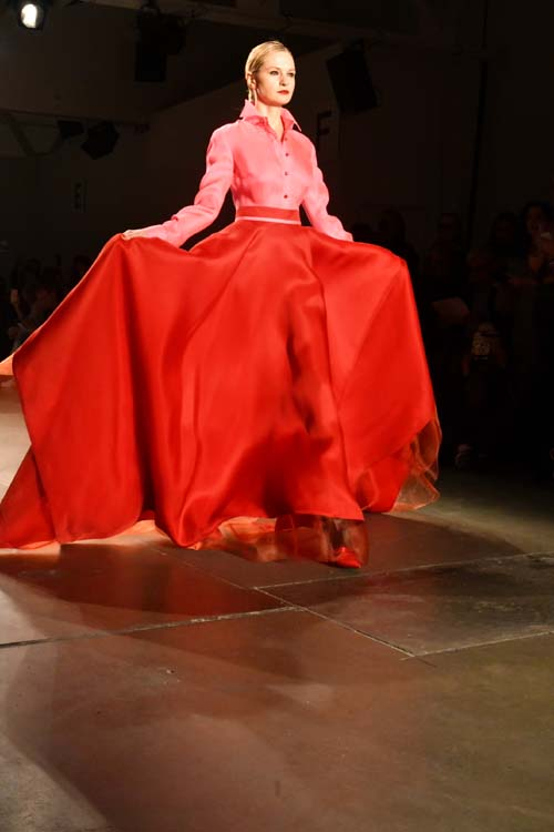 Zang Toi Model Left Me Breathless. Photo by:  Rose Billings/Blacktiemagazine.com