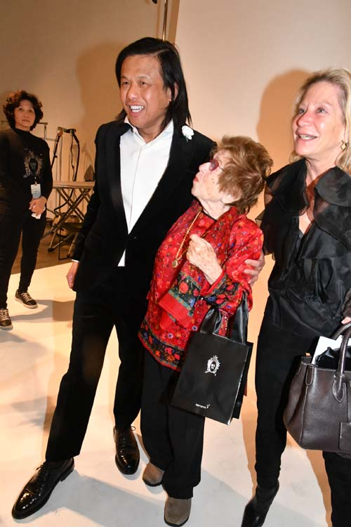 Zang Toi with Dr. Ruth Backstage. Photo by:  Rose Billings/Blacktiemagazine.com