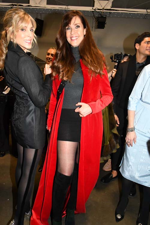 Marla Maples and Carol Alt Backstage. Photo by:  Rose Billings/Blacktiemagazine.com