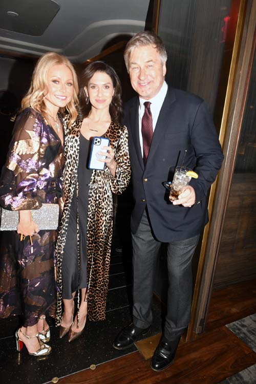 Kelly Ripa, Hilaria Bladwin  and Alec Baldwin.  Photo by:  Rose Billings/Blacktiemagazine.com