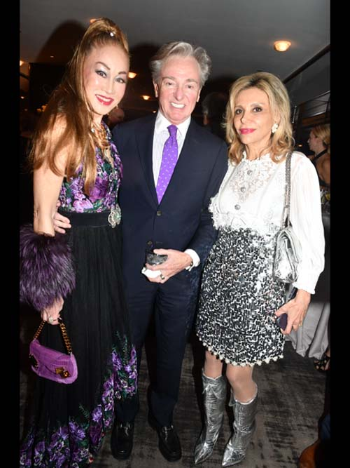 Lucia Hwong Gordon, Geoffrey Bradfield and Nicole Salmasi. Photo by:  Rose Billings/Blacktiemagazine.com