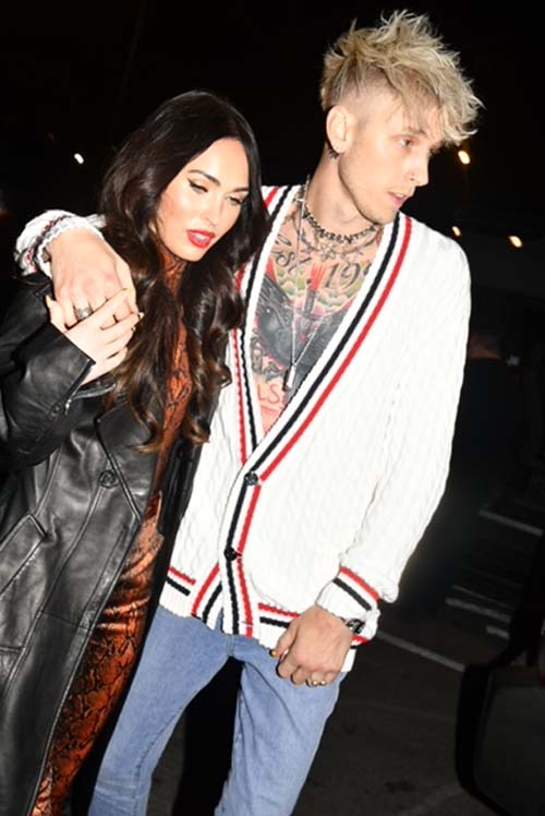 Machine Gun Kelly and Meghan Fox.  Photo by:  Rose Billings/Blacktiemagazine.com