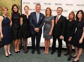 Sarah Vander Schaaff, Rebecca Jarvis, Antigone Davis, Bill Ritter, Amy Kennedy, Kevin Danehy, Giselle Stolper and Jennifer Ashley at the 2016 MHA-NYC Annual Gala at the Pierre Hotel in New York City.Photo by Sean Sime Photography