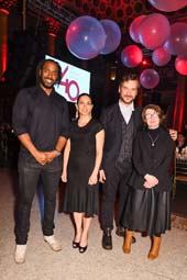 Artist honorees Rashid Johnson, Teresita Fern�ndez, Marcel Dzama, and R.H. Quaytman at The Drawing Center�s 40th Anniversary Gala (courtesy of Hunter Abrams/BFA.com