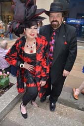 Rosemary Ponzo and Edward Ankudavich look really swell at The Easter Parade.  Photo by:  Rose Billings/Blacktiemagazine.com