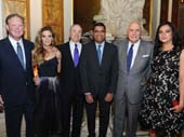 Brian France, Amy France, Robert l. Grossman MD, Pradeep N. Mally MD and Ken Langone attend the KiDS of NYU Langone's 2017 Springfling at The Plaza Hotel on April 27, 2017 in New York City