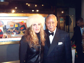 oyce Brooks and His Honor David Dinkins