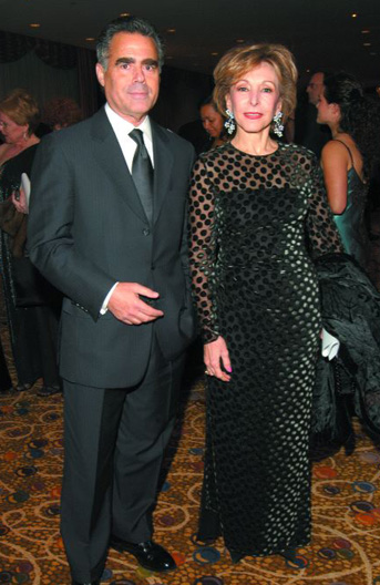 Rolex CEO Allen Brill and Yolanda Santos Garza.