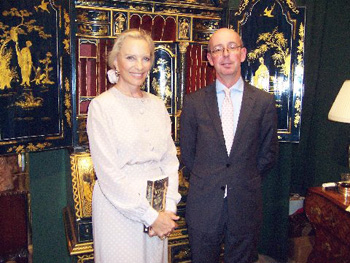 H.R.H. Princess Michael of Kent with Mark Law.