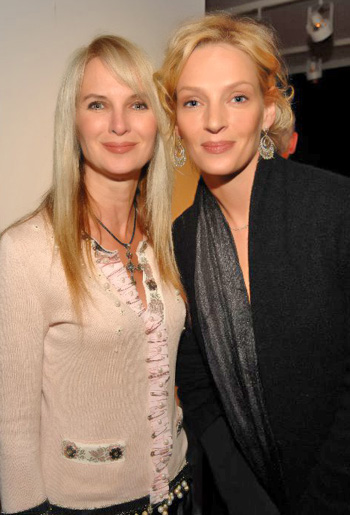 Sara Herbert-Galloway and Uma Thurman.