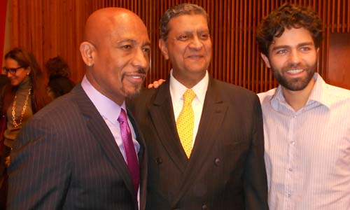 Montel Williams, Amir Dossal, Adrian Grenier