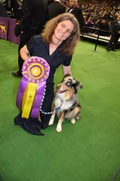 Wendy and Her dog Holster winner Westminster Agility Champion Australian Shepherd.  Photo by:  Rose Billings/Blacktiemagazine.com