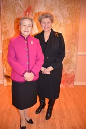Mrs. Ban Soon- Taek and H.E. Ms. Katalin Annamaria Bogyay Permanent Representative of Hungary to the United Nations .  Photo by:  Rose Billings/Blacktiemagazine.com