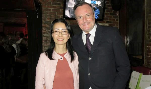 Nancy Xie, Vice President of Finance, American Chinese Silk Road Chamber of Commerce, Gerard Mc Keon, Publisher, Black Tie China
