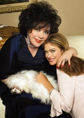 Elizabeth Taylor and Kathy Ireland
