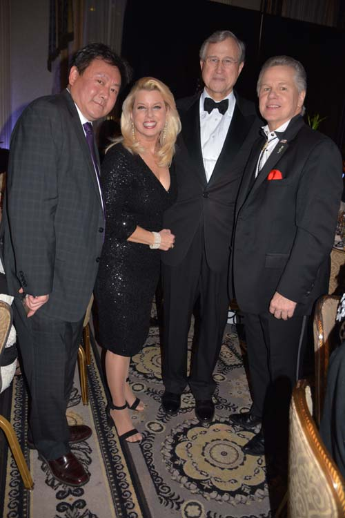 Jimmy Chue, Rita Cosby, Edward Cox and Tomaczek Bednarek.  Photo by:  Rose Billings/Blacktiemagazine.com