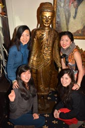 Diana Fu and Alicia Wang with wonderful Friends Happy New Year.  photo by:  rose billings/blacktiemagazine.com