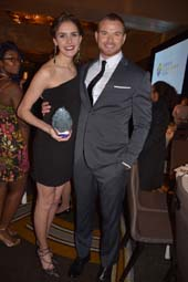 Vivian Cooper (YMA Scholarship Fund Award) and Kellan Lutz.  Photo by:  Rose Billings/Blacktiemagazine.com