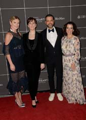 Sarah Arison, Jessica Lang, Jason Moran, and Carolina Garcia Jayaram attend 2017 YoungArts Backyard Ball at YoungArts Campus on January 14, 2017 in Miami, Florida. (Photo by Gustavo Caballero/Getty Images for YoungArts)
