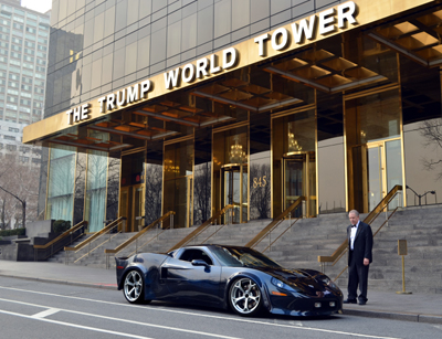 Nick Alessi,and the AR-1,at the trump world tower, nyc