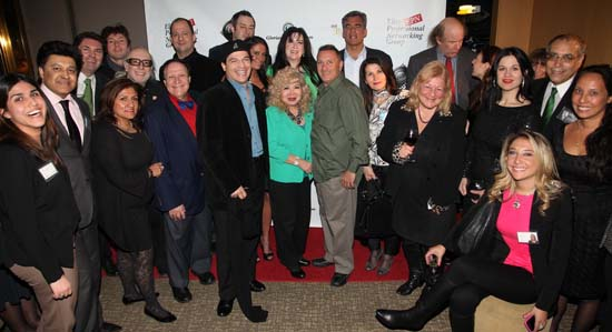 First Row: Kosima Malikyan, Husain Ansar, Ellza Bellezza, Harvey Dzodin, Actor/Director Bill Lanndis, Gloria T. Cressler,