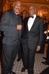 VC Prof. Sir Hilary Beckles, Vice Chancellor and Danny Glover, Honorary Chair.  Photo by:  Rose Billings/Blacktiemagazine.com