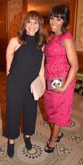 Rosie Perez and June Ambrose .  Photo by:   Rose Billings/Blacktiemagazine.com