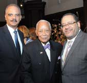 Eric Holder, 82nd US Attorney General, David N. Dinkins former NY Mayor,