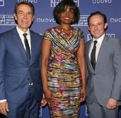 Jeff Koons, Pauline Willis, Director of the American Federation of Arts, and Scott Rothkopf, Deputy Director for Programs and Nancy and Steve Crown Family Chief Curator at the Museum of American Art. Photo: Sylvain Gaboury/PMC �Patrick McMullan