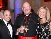 Gala Chairs Wendy and Michael Esposito with His Eminence, Timothy Michael Cardinal Dolan