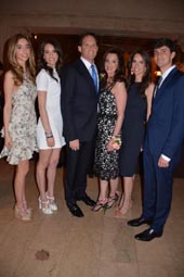 Honoree Trustee Mark H. Rachesky, MD, (Schiff Community Impact Award)  and His wife Jill Rachesky and family,  Allison, Steven Samantha and Kate .  Photo by:  Rose Billings/Blacktiemagazine.com.