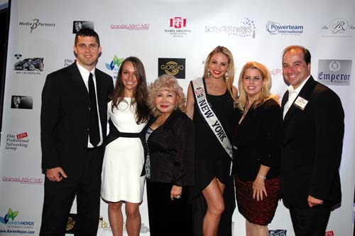 Billy Hock, Nadia Yamson, Gloria T. Cressler, Miss New York Stephanie Chernick, Rita Cosby & David Alan Kogut