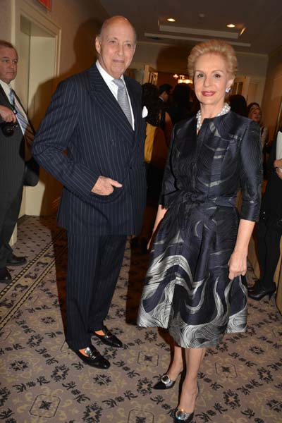 Carolina Herrera with cool, Husband Reinaldo Herrera Guevara