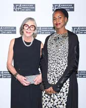 Alice Walton and Wangechi Mutu. Photo: � Kelly Taub/BFA.com