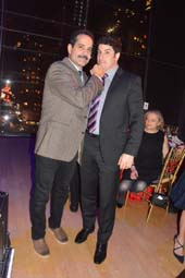 Hosts Tony Shalhoub (Golden Globe Award winning actor and Jason Biggs (American Pie ,Heidi Chronicles and Orange is The New Black).  Photo by:  Rose Billings/Blacktiemagazine.com