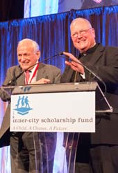Honoree Gary Naftalis and His Eminence, Timothy Michael Cardinal Dolan, Archbishop of New York Photo Courtesy of Inner-City Scholarship Fund/Photographer Andrew Holtz