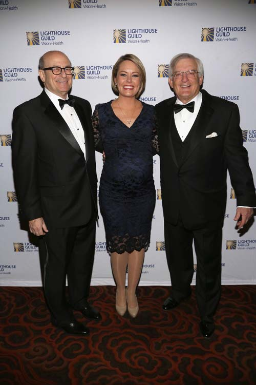 President & CEO of Lighthouse Guild Dr. Alan R. Morse, NBC TODAY Show's Dylan Dreyer and James M. Dubin