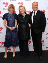 Anna Wintour, Hillary Rodham Clinton, and Michael Kors attend God's Love We Deliver's Seventh Annual Golden Heart Awards on Wednesday, October 16, 2013 at Spring Studios in Manhattan.