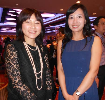 Abby Lee, Gloria Shih, officers of Taipei Economic & Cultural Office in New York